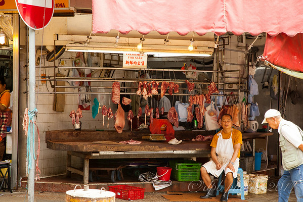 "Kowloon Street Vendor of ""Fresh Meat"""