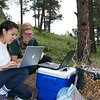 working with Rachel on data out in the field<br /> <br /> Photo  Credit to RESESS director, Aisha Morris