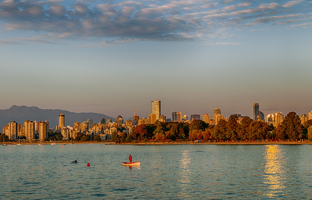 Sunset over Vancouver's West End