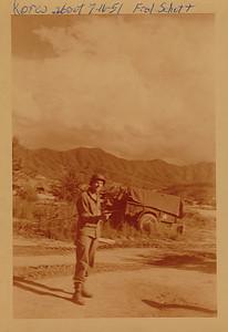 Frederick B Schott, Private, Army Artillery  Korea '51