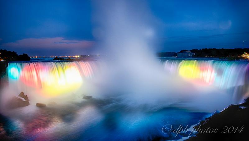Floodlit Niagara Falls