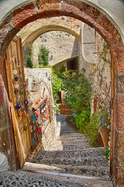Steep Narrow Stairway