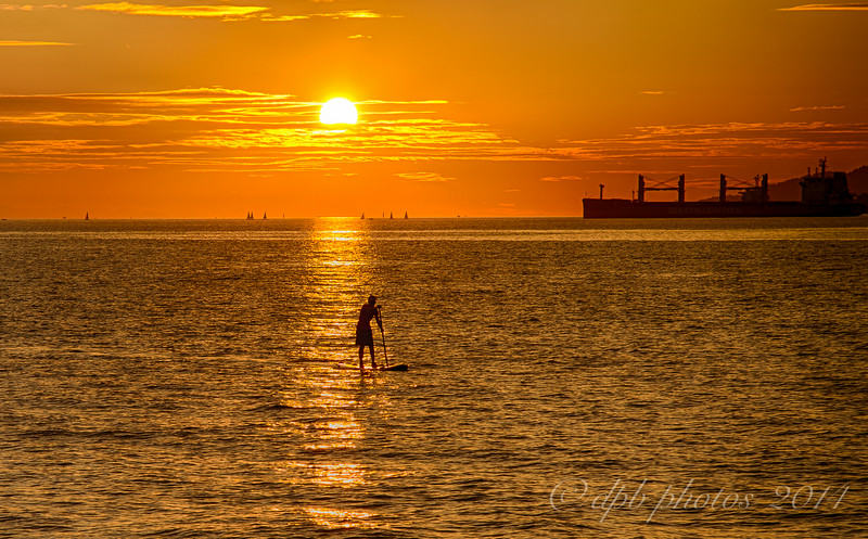 Paddle Boarder on English Bay