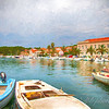 Artistic Rendering ~ Small Boats on the Adriatic