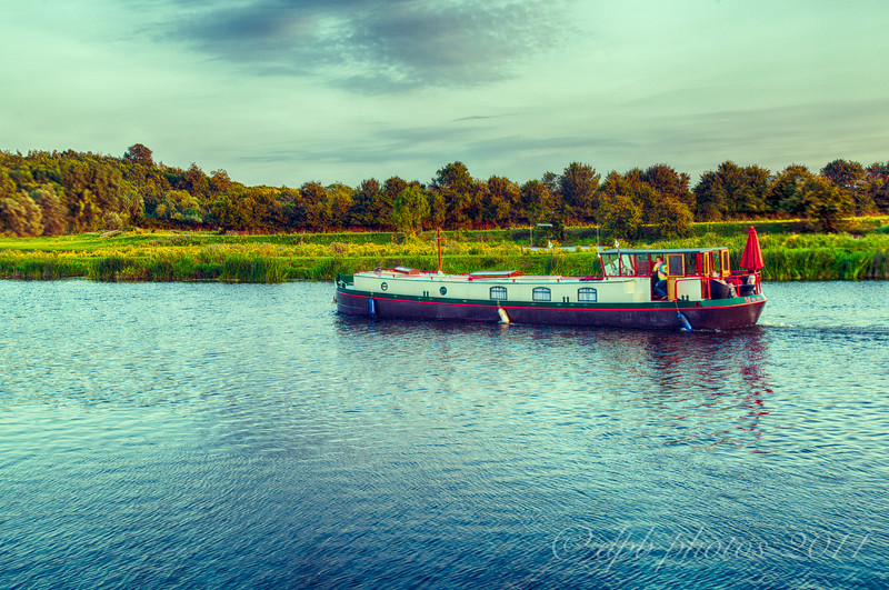 Narrowboat on River Trent