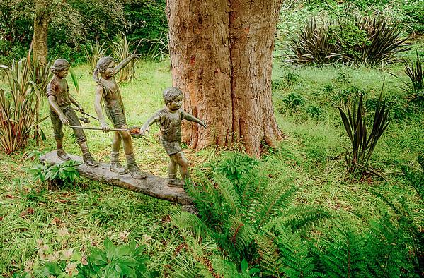 Three Kids on a Log