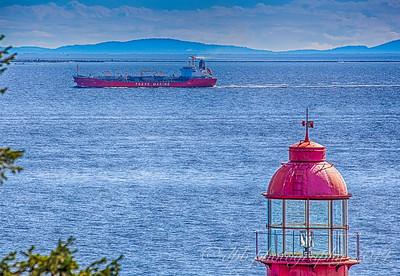 Container Ship Entering English Bay