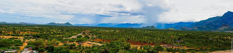 View from the Thiruvanamalai Temple in Srivilliputur
