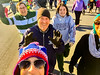 Julia shot this selfie of all of us at the start of  the Turkey Trot.