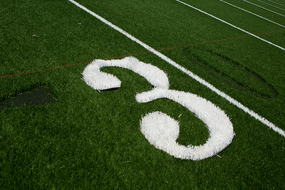 The numbers being placed on the field