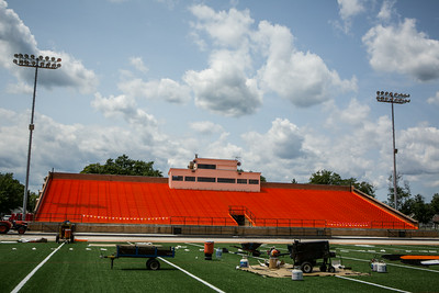 The new grandstand color