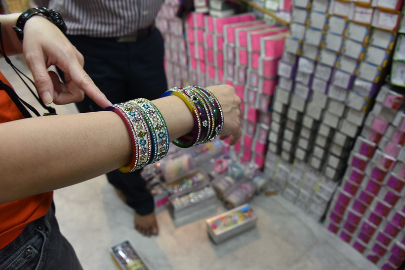 KF stops for bangles in Jodhpur