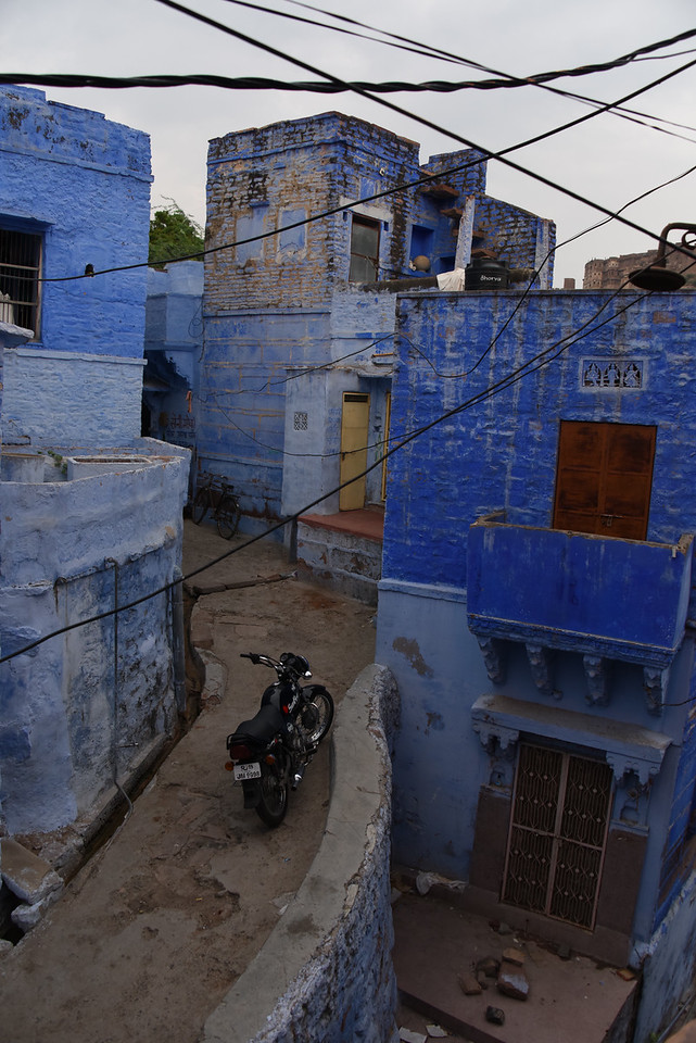 The blue homes used to indicate Brahmin homes