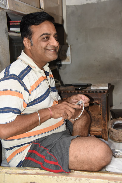 Silversmith in the old town
