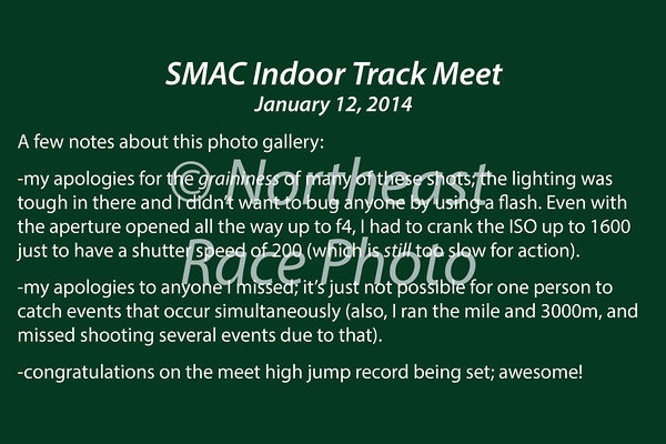 SMAC Indoor Track Meet #1