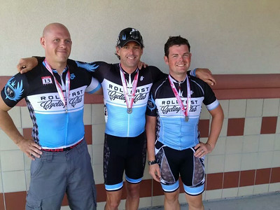 Chris Blair, Matt Tanner and Stephen Strayer - all on the podium at the state time trial championship