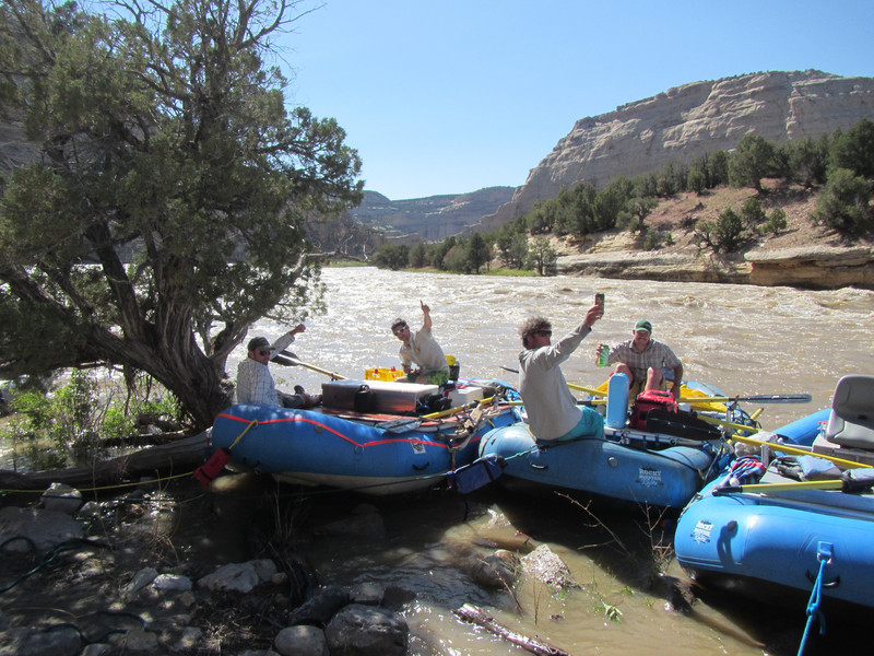 Hans, Eric, Dave and Jake for HH on the Yampa