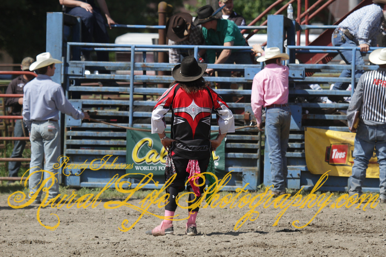 "The next photos are ""Roy Rodeo Bullfighter Heroes "" they helped out a lot of folks starting with this Miniature Bull Rider after he got hung up."