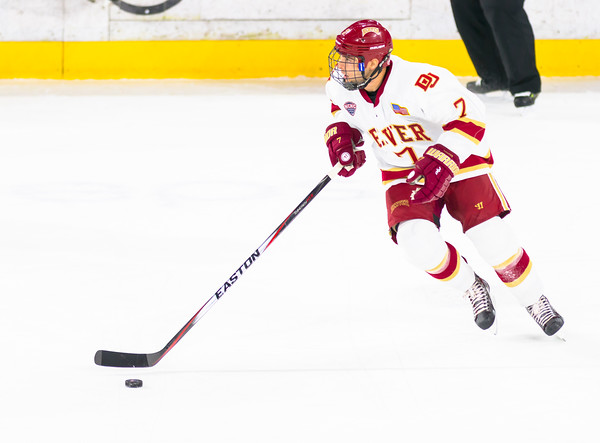 Pictured:  DU:  #7, Will Butcher, D, 5-10, 200, SO, Sun Prairie, WI