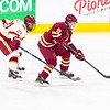 Pictured:  BC:  #19, Ryan Fitzgerald, SO, F, 5-10, 177, North Reading, MA;  DU:  #21, Joey LaLeggia, D, 5-10, 185, SR, Burnaby, BC