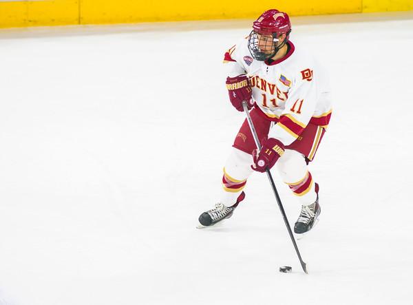 Pictured:  DU:  #11, Nolan Zajac, D, 5-10, 180, JR, Winnipeg, MAN