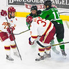 Pictured:  DU: #14, Larkin Jacobson, F, 6-2, 215, SR, Sioux City, IA; #39, Grant Arnold, F, 6-1, 215, JR, Centennial, CO;  UND:  #11, Olson, Trevor, F, 6-2, 200, FR, Duluth, MN; #20, Ausmus, Gage, D, 6-2, 215, SO, East Grand Forks, MN