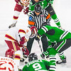 Pictured:  UND:  #15, Parks, Michael, F, 6-0, 198, SR, St. Louis, MO; #28, Pattyn, Stephane, F, 6-2, 215, SR, Ste. Anne, MAN; #9, Caggiula, Drake, F, 5-10, 180, JR, Whitby, ONT; DU:  #23, Matt Marcinew, F, 5-9, 177, SO, Calgary, ALB; #26, Evan Janssen, F, 6-0, 185, SO, Green Bay, WI; #9, Gabe Levin, F, 5-7, 160, JR, Marina del Rey, CA