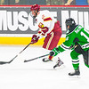 Pictured:  DU:  #12, Ty Loney, F, 6-4, 208, SR, Pittsburgh, PA;  UND:  #16, MacMillan, Mark, F, 6-0, 184, SR, Penticton, BC