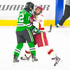 Pictured:  UND:  #22, Panzarella, Andrew, D, 6-1, 208, SR, Washington, DC;  DU:  #39, Grant Arnold, F, 6-1, 215, JR, Centennial, CO