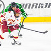 Pictured:  DU: #8, Trevor Moore, F, 5-10, 175, SO, Thousand Oaks, CA;  UND:  #11, Olson, Trevor, F, 6-2, 200, FR, Duluth, MN