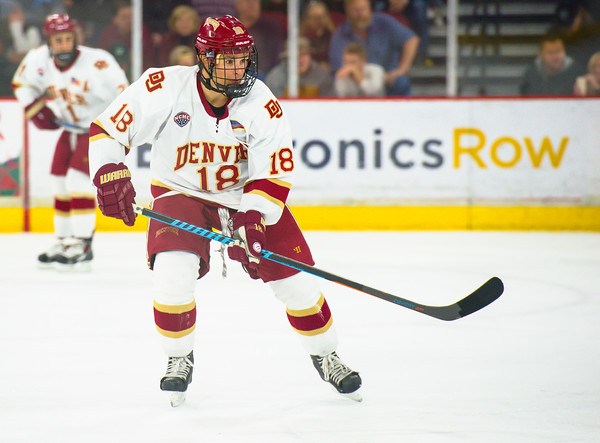 Pictured:  DU:  #18, Emil Romig, F, 5-10, 170, SO, Vienna, Austria