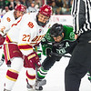 Pictured:  DU:  #27, Quentin Shore, F, 6-1, 185, JR, Denver, CO; #12, Ty Loney, F, 6-4, 208, SR, Pittsburgh, PA;  UND:  #16, MacMillan, Mark, F, 6-0, 184, SR, Penticton, BC