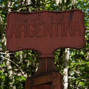 Arriving in Argentina.