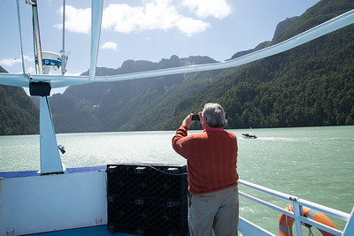 Lake crossing to Bariloche, Argentina.