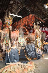 Visit to a samba school workshop in preparation for Carnival 2014. Rio de Janeiro, Brazil.