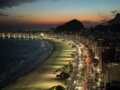 Copacabana Beach. Rio de Janeiro, Brazil.