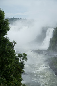 Iguazú Falls seen from Brazil.