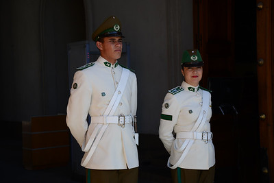 Guards at La Moneda Palace. Santiago, Chile
