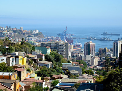 Looking towards to port. Valparaiso, Chile.
