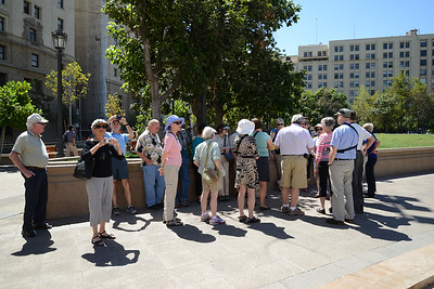 Tour group at Metropolitan Cathedral. Santiago, Chile