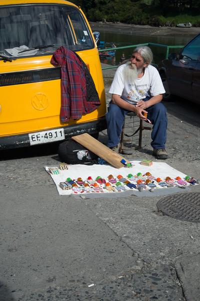 Street Vendor. Puerto Montt, Chili.
