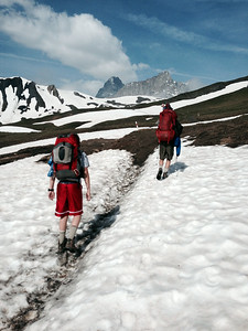On the way to Grad Col Ferret