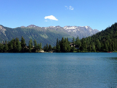 The view from our B&B in Champex-a-lac!
