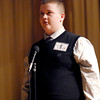 The Herald Bulletin Spelling Bee with contestant Justin Branson from St. Mary Middle School, Alexandria.