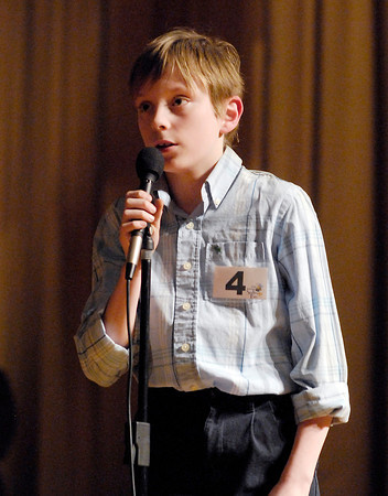 The Herald Bulletin Spelling Bee with contestant Tristan Hankins from Highland Middle School, Anderson.