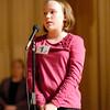 The Herald Bulletin Spelling Bee with contestant Emma Corbin from Maple Ridge Elementary School, Pendleton.