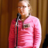 The Herald Bulletin Spelling Bee with contestant Lauren Richards from Lapel Elementary School, Lapel.