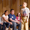 The Herald Bulletin Spelling Bee with contestant Aaron Bowman from St. Ambrose Elementary School, Anderson.