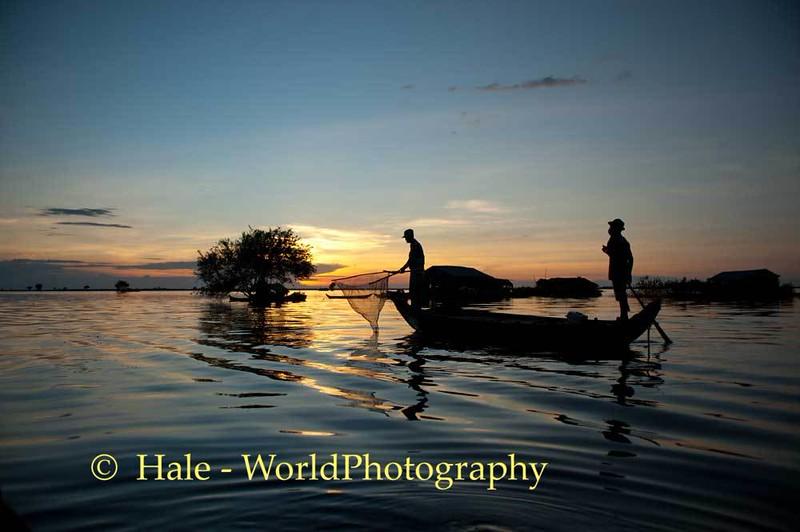 Sunset Over Tonle Sap Lake, Cambodia