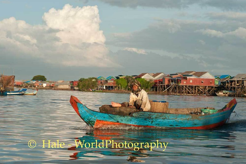Cambodian Fisherman Returning Home
